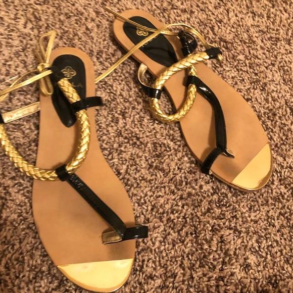 ae5f3c6596e2 Isola Shoes - Isola women s sandal gold black tone